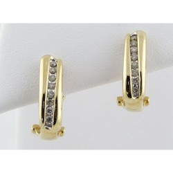 599Diamond and Yellow Gold Earrings