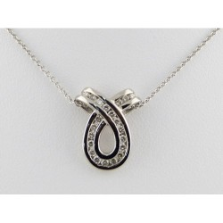 Diamond Ribbon Pendant
